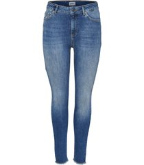 skinny jeans blush mid ankle raw