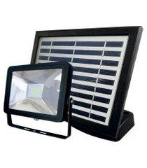 refletor taschibra prime 01 led solar 3000k preto