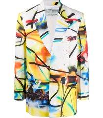 futura spray print blazer
