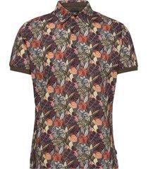 8815 jersey - denton s. kortärmad skjorta multi/mönstrad sand