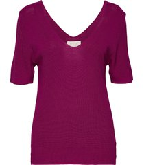 bex knit tee t-shirts & tops knitted t-shirts/tops paars minus