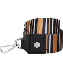 straps cartera rayas negro zappa