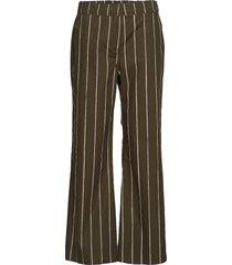 tervehditty kiskoraita trousers wijde broek groen marimekko