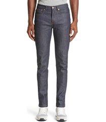 men's a.p.c. petite new standard stretch skinny fit jeans, size 31 - blue