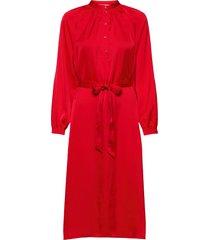 slfharmony ls short dress b jurk knielengte rood selected femme
