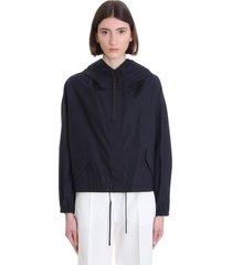 jil sander casual jacket in blue cotton