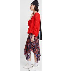 blouse embroidered mandalas - red - xl