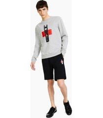 hugo men's denguin bamboo-logo sweatshirt, created for macy's