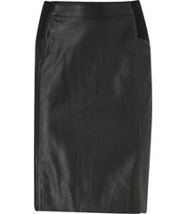 kjol vmbuttersia hw coated skirt