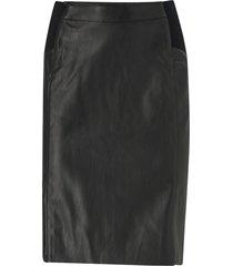 kjol vmbuttersia hw coated skirt