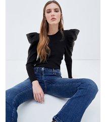 motivi maglia volume con borchie donna nero