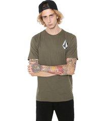 camiseta volcom deadly stone verde - verde - masculino - dafiti