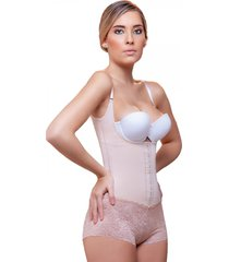victorie corset style bodysuit with lace boyshort