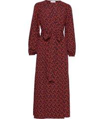 khalida mini maxi dress galajurk rood rodebjer