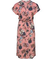dress ss knälång klänning rosa rosemunde