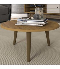 mesa de centro redonda brilhante 2075280 cinamomo - bechara móveis