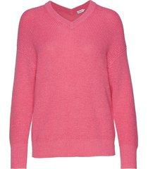 alpaca v-neck sweater gebreide trui roze filippa k
