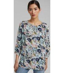 blusa de crepe con estampado multicolor esprit