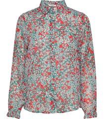 nuaphra shirt blus långärmad multi/mönstrad nümph