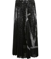 valentino embellished pleated skirt