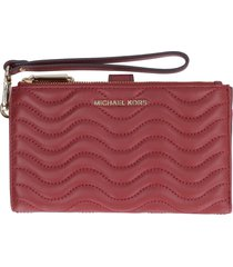 michael michael kors adele quilted leather wallet