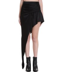alexander wang skirt in black silk