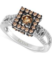 le vian chocolatier diamond ring (9/10 ct. t.w.) in 14k white gold