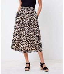 loft loft plus cheetah print pocket midi skirt
