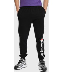 jogger champion classic jersey with graphic negro - calce regular