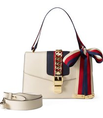 gucci small leather shoulder bag - white