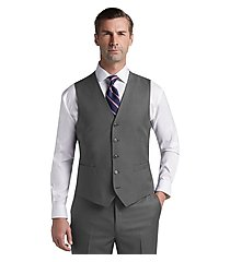 traveler collection slim fit sharkskin men's suit separates vest - big & tall by jos. a. bank
