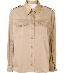 ports 1961 flap-pocket military shirt - brown