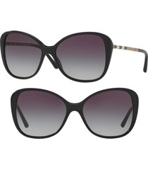 burberry 57mm butterfly sunglasses in black at nordstrom
