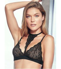 chamela 23650 - bralette lenceria para mujer - ropa interior con encaje-negro