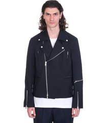 jil sander casual jacket in blue polyester