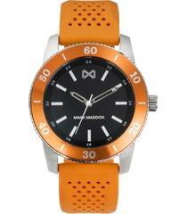 reloj naranja mark maddox hombre
