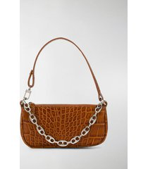by far mini rachel crocodile-effect shoulder bag