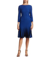 st. john women's perforated knit dress - electric blue - size 0