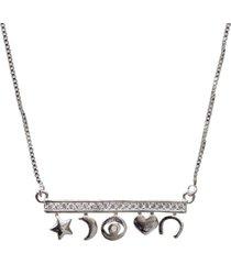 corrente folheado a prata ania store amuleto da sorte prata