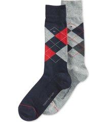 tommy hilfiger argyle dress socks, 2 pack