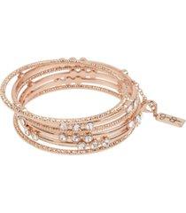 """jessica simpson stone mixed bangle bracelet set, 8"""""""