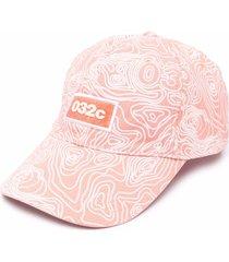 032c topos-print cotton baseball cap - pink