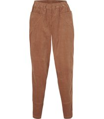 pantaloni di velluto ampi con cinta comoda (marrone) - bpc bonprix collection
