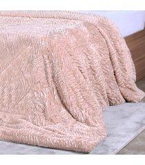 cobertor slim peles queen com porta travesseiro taupe - tessi