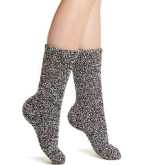 women's barefoot dreams cozychic socks, size one size - black