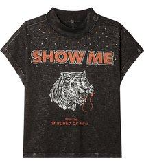 camiseta john john lion malha algodão preto feminino (preto, gg)