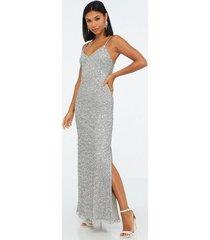 maya strappy sequin maxi dress maxiklänningar