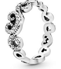 anel coração romântico