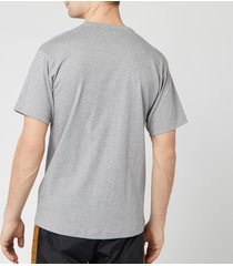 acne studios men's regular fit face patch t-shirt - light grey melange - xl - grey