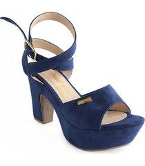 calzado dama tacon 5 1/2 azul 182600170azul